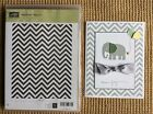Stampin Up Positively Chevron Clear Mount Background Stamp and finished Card