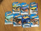 LOT OF 7 Hot Wheels CARS Plymouth, Willys, Chevy, Cunningham, Torino, Heat Fleet