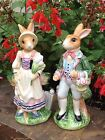Fitz and Floyd Classics Old World Rabbits Salt and Pepper Shakers Set