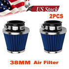 38mm Air Filter Cleaner 50cc 110 125cc Dirt Bike ATV Quad GY6 Moped Scooter 2X