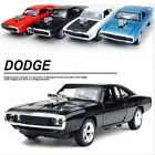 Fast Furious 7 Alloy Dodge Charger Pull Back Toy Cars Diecast Model Kids Toys