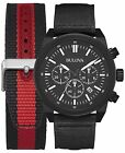 Bulova Men's 98B280 Chronograph Quartz Interchangeable Strap Black 45mm Watch