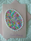 Iris Folded Pink Easter Egg Card 4 x 6 BUY ANY 3 SHIP FOR FREE A