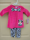 Minnie Mouse Bow 2 Piece Set Top Pants Size 12 Months NWT