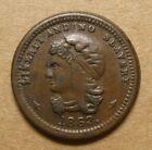 1863 Civil War Token - 36/271a - Liberty and No Slavery / Union for Ever