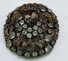 Stunning Vintage large brooch pin glass stones by SANDOR