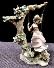 Lladro VICTORIAN GIRL ON A SWING Porcelain Figurine by Salvador Debon. MINT.1977
