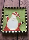 Certified International Santa Plate Decorative Dan Dipaolo Christmas Holidays