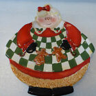 Becca Barton Certified International - MRS. CLAUS CHRISTMAS COOKIE PLATE