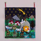 Applique wall hanging Christmas Star Nativity