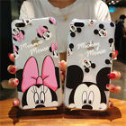 Xmas Disney Minnie  Mickey Back Soft Case Cover For Apple iPhone Xs Max 6s 7 8