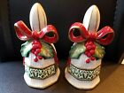 Fitz and Floyd Essential Christmas Bells Salt & Pepper Shakers 4