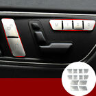 Inner Door Seat Memory Button Trim Cover 12pcs For Benz C Class W204 2008 2013