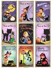 9 Halloween Retro Children ATC Cards Hang Tags Scrapbooking Paper Crafts 346