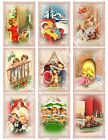 9 Retro Night Before Christmas ATC Cards Hang Tags Scrapbooking Paper Craft348
