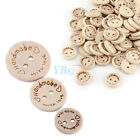 100pcs 2 Holes Wood Buttons Sewing Scrapbooking DIY Craft handmadewith love