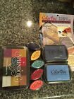 New Pigment Ink Pad Lot 2 Colorbox Ink Pads 5 Cat Eyes  Lg Splendor Multi Pad