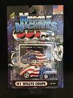 NIP Muscle Machines 2001 American Flag 9 11 41 Willys Coupe Diecast Car 01 99