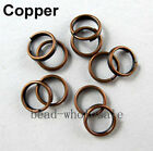 200-450x Metal Double Loop Jumprings Split Open Jump Rings 45681012mm 1 Lot