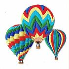 Colorful Three Striped Hot Air Balloons Iron on Embroidered Patch