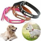 Metal Buckle Carving Soft PU Leather Pet Necklacce Anti Lose Dog Collar