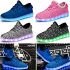 Upgraded Boys Girls 7 Colors Led Light Up Luminous Sneakers Kids Casual shoes