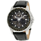 Citizen Skyhawk A-T LTD Black Dial Leather Strap Men's Watch JY805701E