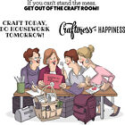 Art Impressions Girlfriends Cling Rubber Stamps 10X45 Crafty Girls