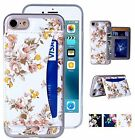 For IPhone 7 Case, IPhone 7 Flower Floral Flip Folio Wallet Cases PU Leather