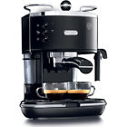 Black Stainless Steel 48-oz Manual Espresso Machine with Removable Drip Tray