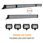 42 Inch LED Light Bar Combo + 22in +4 CREE PODS OFFROAD SUV 4WD FORD JEEP 20 30