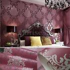 10m Modern Luxury Non woven Damask Textured Embossed Flocking Paper Home Wall