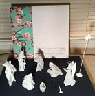 One Hundred 80 Degrees Origami Porcelain 9 Piece Nativity Set Please Read