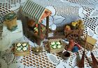 Fontanini 5 Village Lot of Accessories Vegetable Cart Stand Displayed Twice