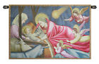 24x34inch Italian Woven Tapestry Wall Hanging Nativity Giotto