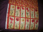 Susan Winget~~ Poppies Floral Panel and Backing~~ 12 Flowers  16 X 21  Last 1