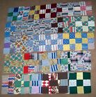 38 Vintage 1930s Hand Made Patchwork Quilt Block Tops FEEDSACK SQUARE PRINTS