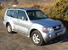 MITSUBISHI SHOGUN ELEGANCE LWB 35 GDI AUTO SILVER FULL BLACK LEATHER 1 OWNER