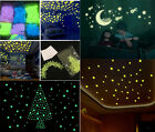 New 100x Home Wall Night Glow Space Star Stickers Decal Baby Kids Room CA28