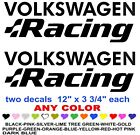 Volkswagen Racing Stickers Decals  Any Color Race  Jdm