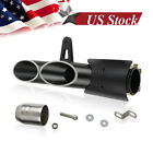 Dual Outlet Motorcycle Exhaust Muffler Tail Pipe Slip on 38mm-51mm Universal2018