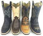 MENS RODEO COWBOY WORK BOOTS GENUINE LEATHER WESTERN SQUARE TOE BOTAS