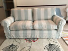 John Lewis Padstow Sofa Ex Display Stripe Duck Egg White