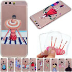 Slim Clear Soft Silicone TPU Rubber Gel Back Case Cover For Huawei Samsung iPhon