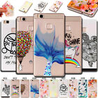 For Huawei Phones Back Cover Case TPU Protective Fashion Embossing Gel Soft Skin