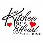 CQI The Kitchen Is The Heart Of The Home Removabel DIY Wall Decal Vinyl Wall Art