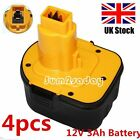 4 Pcs 12V 3000mAh Replacement Power Tools Batteries Cordless Drill for Dewalt SA