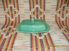 VINTAGE HOMER LAUGHLIN  RIVIERA  GREEN  1/2 POUND BUTTER DISH - FIESTAWARE - t23