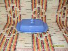 VINTAGE HOMER LAUGHLIN RIVIERA  BLUE  1/2 POUND BUTTER DISH - FIESTAWARE - t23