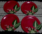 FRITZ AND FLOYD LE MARCHE TOMATO PLATES Set of 4-- 9